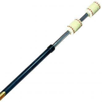 Staff feu cougar - mèche double 65mm