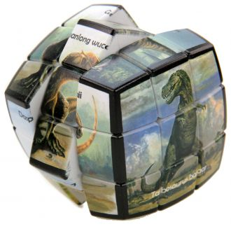 dinosaures sauvages v-cube puzzle 3X3