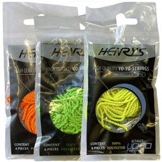 6 ficelles polyester couleur