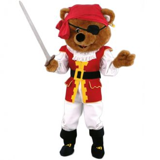 Mascotte Ours Pirate